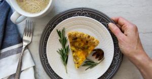meal prep lose weight plated quiche